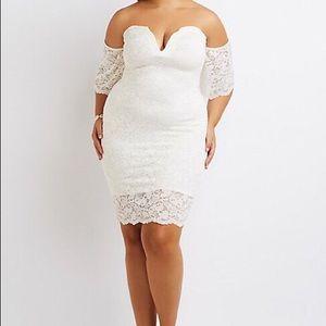White Lace Off Shoulder✨